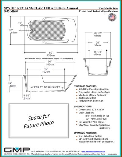 6032-MK09-RT-ARM - Prod & Tech Specs