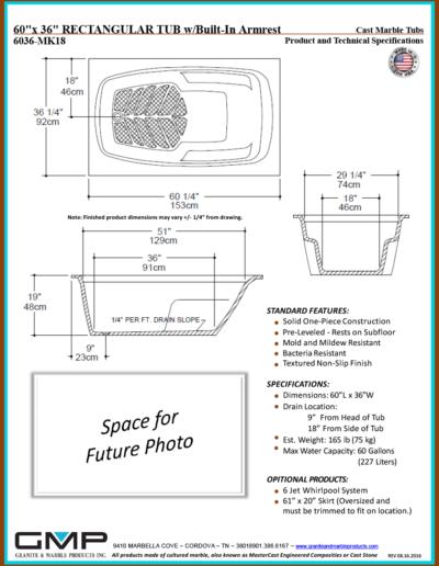 6036-MK18-RT-ARM - Prod & Tech Specs