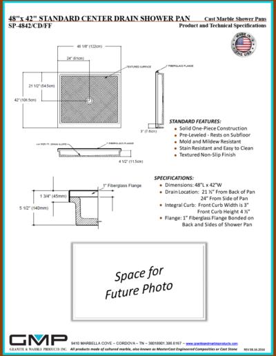 SP-4842-CD-FF Shower Pan - Prod & Tech Specs