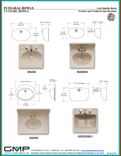 VT-ITGRL-BOWLS - Prod & Tech Specs