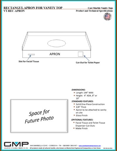 VT-REC-APRON - Prod & Tech Specs
