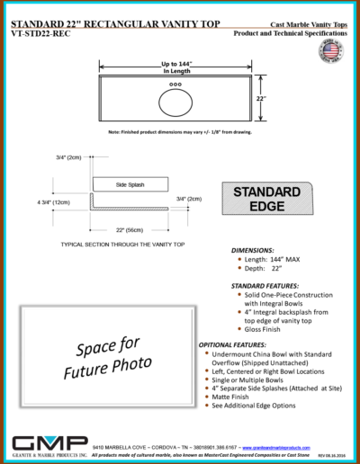 VT-STD22-REC - Prod & Tech Specs